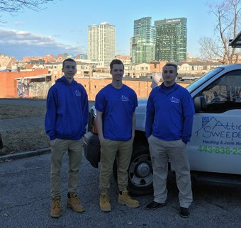 Junk hauling experts in Baltimore, MD